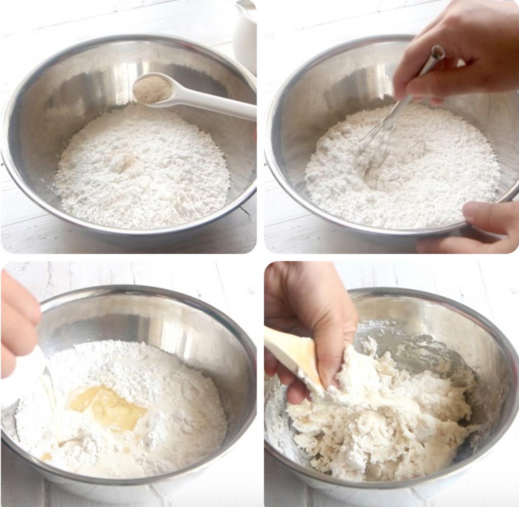 Làm bột bánh bao