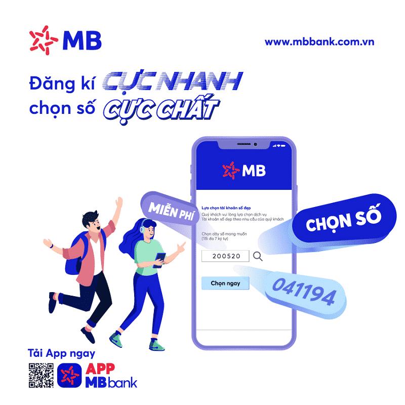 Mở tài khoản số đẹp MB bank có miễn phí không?