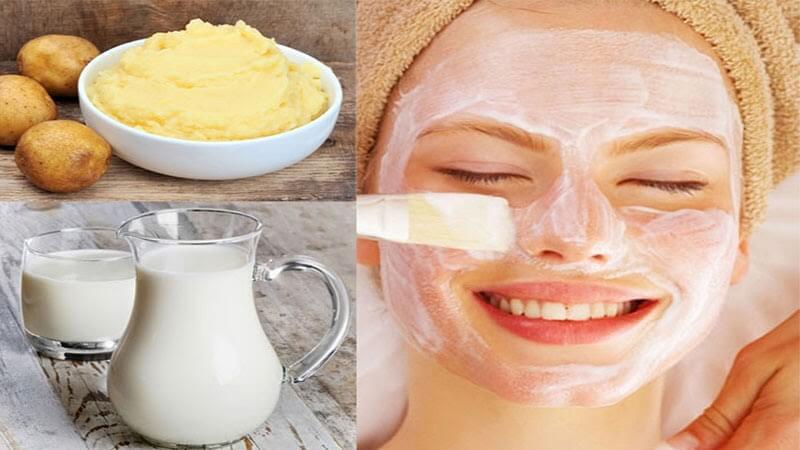 Khoai tây và sữa tươi sự kết hợp hiệu quả cho một làn da trắng sáng