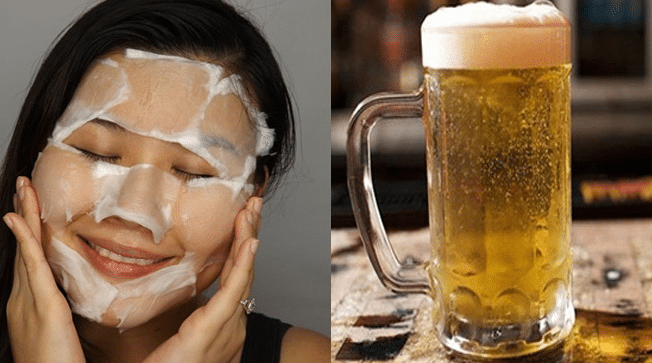 Làm mặt nạ trắng da đơn giản với bia
