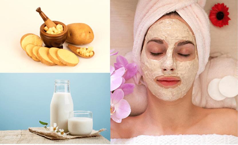 Làm mặt nạ trắng da từ khoai tây và sữa tươi