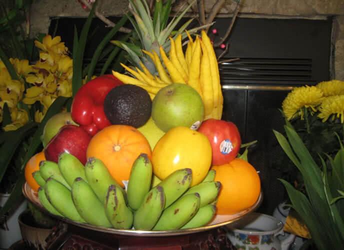 Mâm ngũ quả đẹp ngày tết của người miền Trung