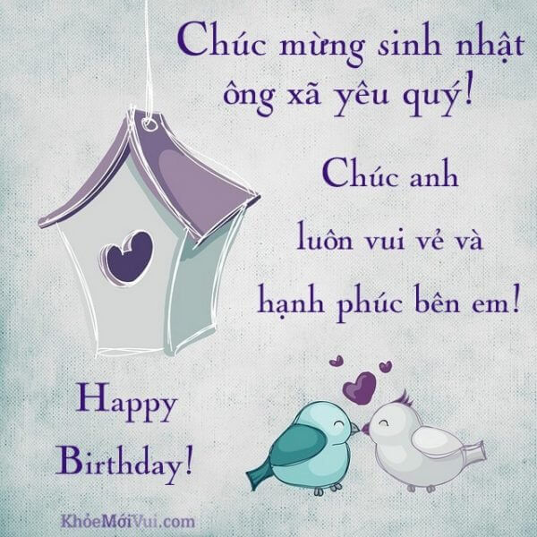 Lời chúc sinh nhật hay tặng cho chồng