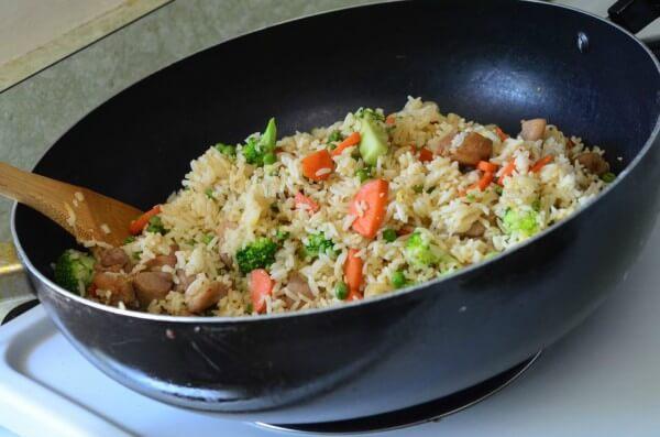 Cách làm món cơm rang gà