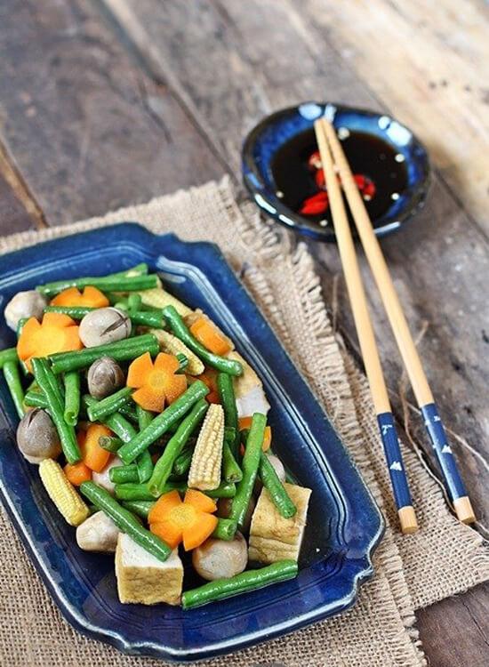 Cách làm món rau củ xào chay thanh đạm cho cả nhà