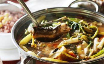 Món lẩu lươn bung
