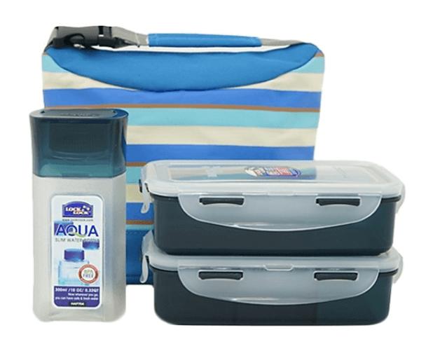 Bộ Túi Hộp Cơm Lock&Lock Stripe Pattern Bag