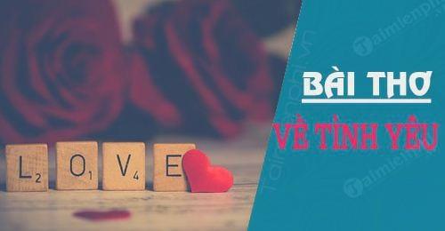 Thơ nói lên nỗi lòng của những người đang yêu