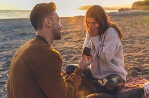 Surprise her on beach